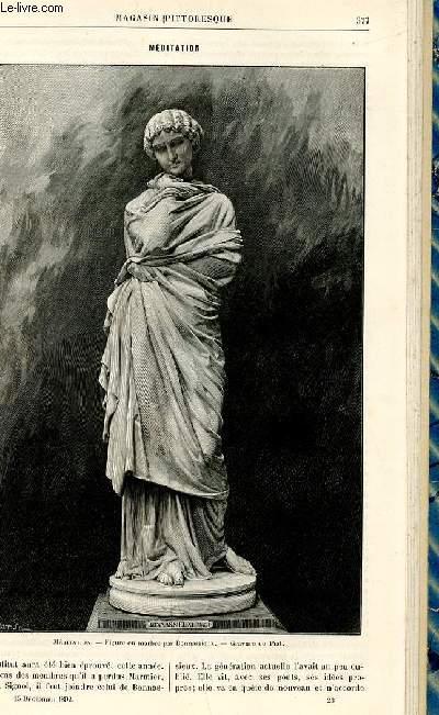 LE MAGASIN PITTORESQUE - Livraison n°23 - Méditation.