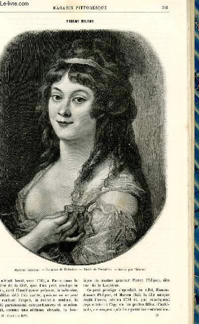 LE MAGASIN PITTORESQUE - Livraison n°24 - Madame Roland.
