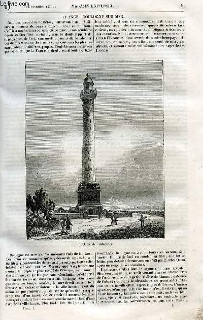 Le magasin universel - tome premier - Livraison n°06 - Boulogne Sur Mer.