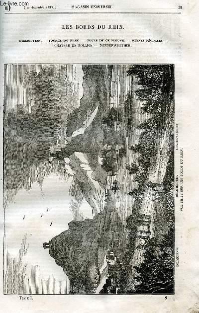 Le magasin universel - tome premier - Livraison n°08 - Les bords du Rhin.