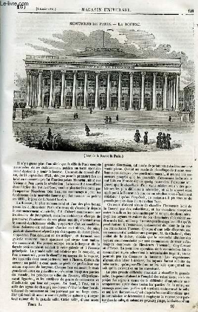 Le magasin universel - tome premier - Livraison n°16 - Monuments de Paris - La Bourse.