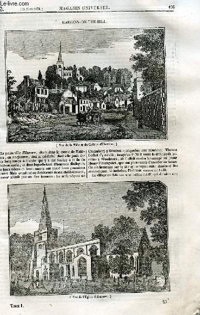 Le magasin universel - tome premier - Livraison n°25 - Harrow-On-The-Hill.