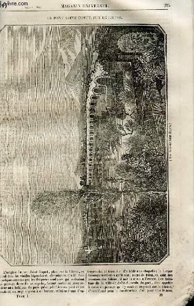 Le magasin universel - tome premier - Livraison n°29 - Le pont Saint Esprit sur le Rhône.