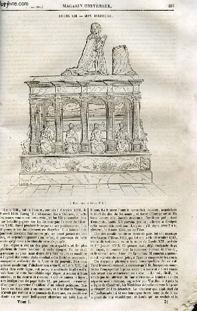 Le magasin universel - tome premier - Livraison n°31 - Louis XII - son tombeau.