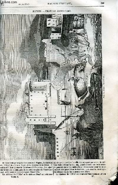 Le magasin universel - tome premier - Livraison n°37 - Naples - Château Saint elme.