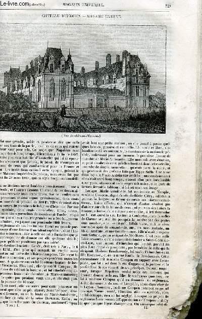 Le magasin universel - tome premier - Livraison n°42 - Château d'Ecouen - Madame Campan.