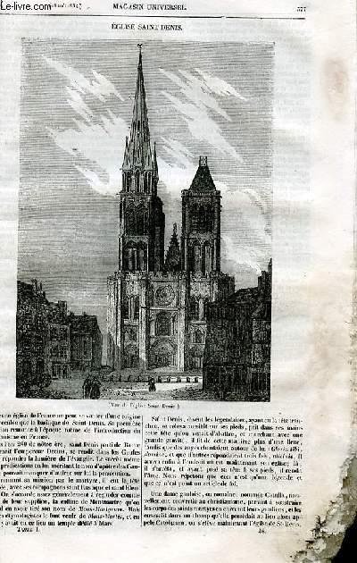 Le magasin universel - tome premier - Livraison n°48 - Eglise Saint Denis.