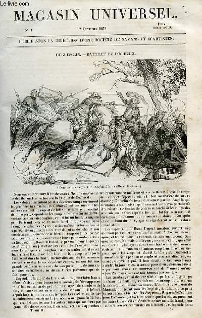 Le magasin universel - tome second - Livraison n°01 - Duguesclin - Bataille de Cocherel.
