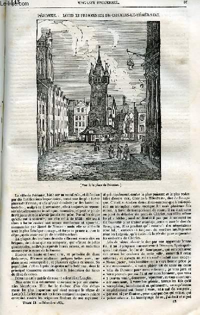 Le magasin universel - tome second - Livraison n°13 - Péronne - Louis XI prisonnier de Charles Le Téméraire.