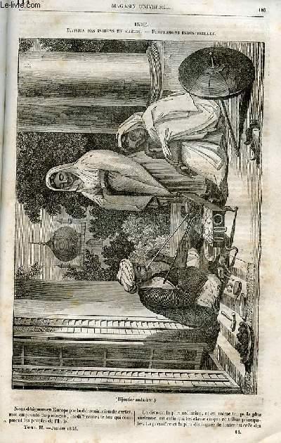 Le magasin universel - tome second - Livraison n°14 - Inde - Division des Indiens en castes - professions industrielles.