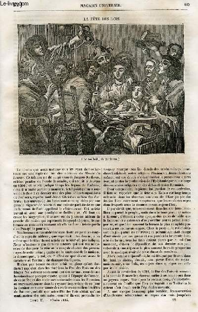 Le magasin universel - tome second - Livraison n°22 - La fête des rois.