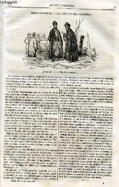 Le magasin universel - tome troisième - Livraison n°04 - Constantinople - les Juifs et les Arméniens .