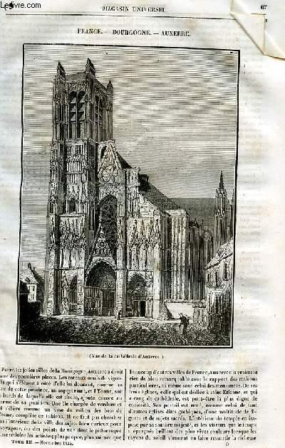 Le magasin universel - tome troisième - Livraison n°09 - France - Bourgogne - Auxerre.