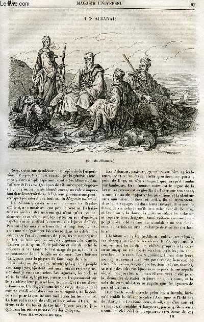 Le magasin universel - tome troisième - Livraison n°13 - Les Albanais.