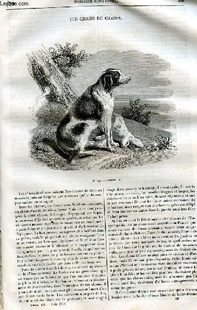 Le magasin universel - tome troisième  - Livraison n°39 - Les chiens de chasse.