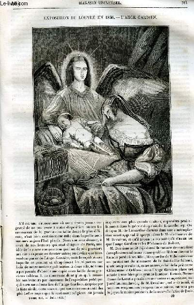 Le magasin universel - tome troisième - Livraison n°40 - Exposition du Louvre en 1836 - L'ange gardien.