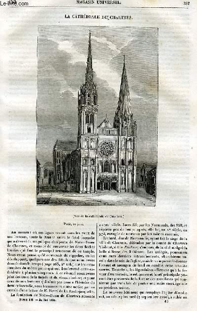 Le magasin universel - tome troisième - Livraison n°43 - La cathédrâle de Chartres.