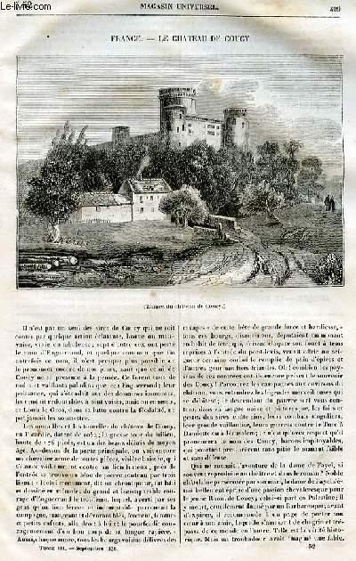 Le magasin universel - tome troisième - Livraison n°52 - France - Le château de COucy.