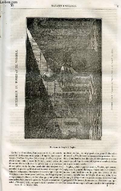 Le magasin universel - tome quatrième - Livraison n°02 - Intérieur du tombeau de Virgile.