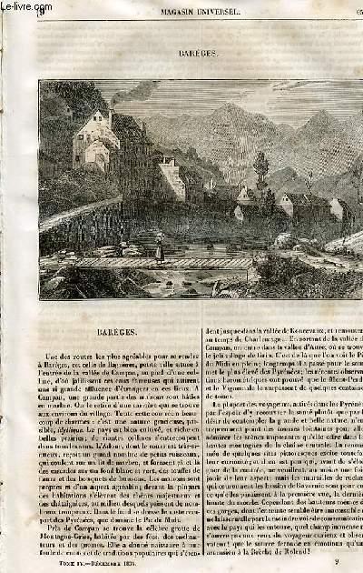 Le magasin universel - tome quatrième - Livraison n°09 - Barèges.