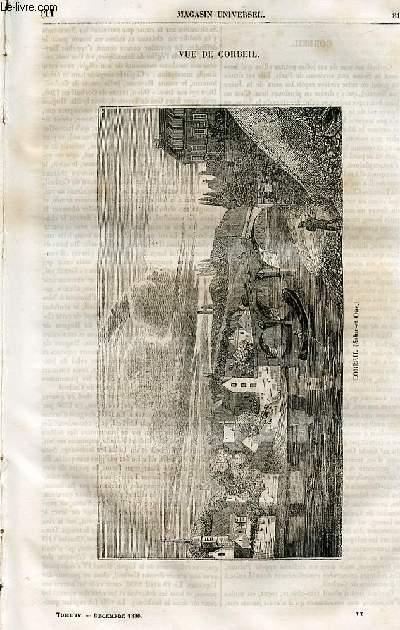 Le magasin universel - tome quatrième - Livraison n°11 - Vue de Corbeil.