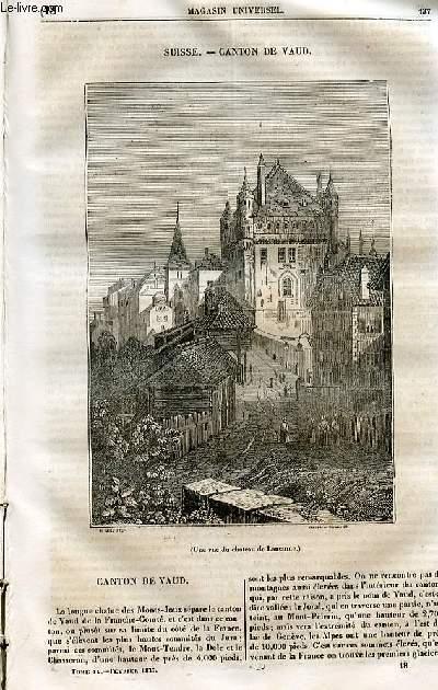 Le magasin universel - tome quatrième - Livraison n°18 - Suisse - Caont de vaud.