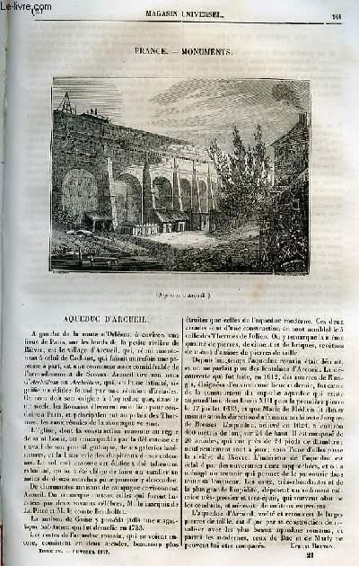 Le magasin universel - tome quatrième - Livraison n°21 - France - Monuments - Aqueduc d'Arcueil.