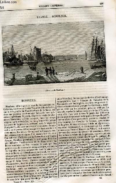 Le magasin universel - tome quatrième - Livraison n°26 - France - Honfleur.