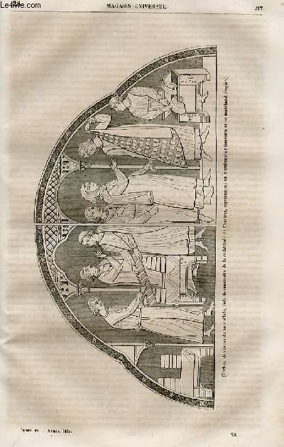 Le magasin universel - tome quatrième - Livraison n°28 - Etat des Beaux Arts en France au Moyen Age  du 12ème au 14ème siècle.