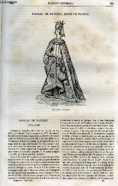 Le magasin universel - tome quatrième - Livraison n°34 - Isabeau de Bavière, reine de France.