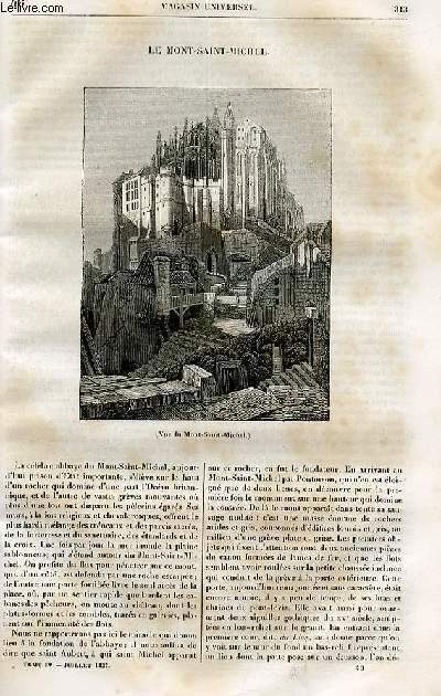 Le magasin universel - tome quatrième - Livraison n°40 - Le mont Saint Michel.