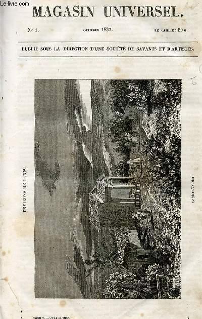 Le magasin universel - tome cinquième - Livraison n°01 - Environs de Paris - le mont Valérien, à suivre.