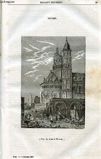 Le magasin universel - tome cinquième - Livraison n°05 - Worms.