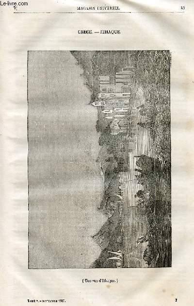 Le magasin universel - tome cinquième - Livraison n°07 - Grèce - Ithaque - Moeurs des klephtes (études historiques).