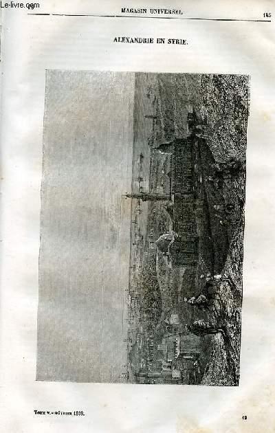 Le magasin universel - tome cinquième - Livraison n°19 - Alexandrie en Syrie.