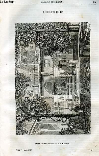 Le magasin universel - tome cinquième - Livraison n°24- Moeurs turques.