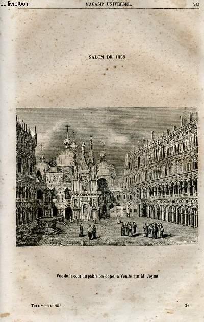 Le magasin universel - tome cinquième - Livraison n°34 - Salon de 1838 - Vue de la cour du palais des doges à Venise par Joyant.
