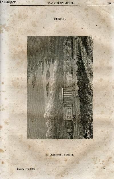 Le magasin universel - tome cinquième - Livraison n°38 - Munich - le glyptothèque à Munich.