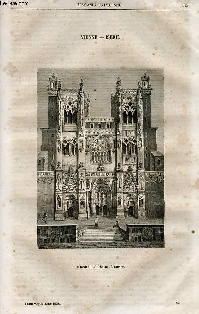 Le magasin universel - tome cinquième - Livraison n°42 - Vienne - Isère - Cathédrâle de Saint Maurice.
