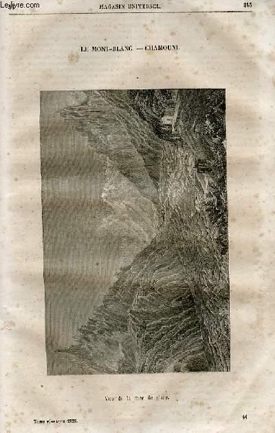 Le magasin universel - tome cinquième - Livraison n°44 - Le Mont Blanc - Chamouni.