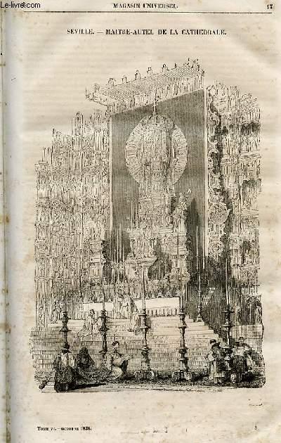 Le magasin universel - tome sixième - Livraison n°03 - Séville - Maitre-Autel de la cathédrâle.