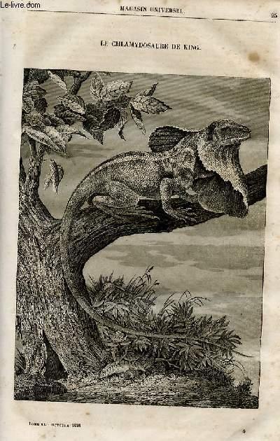 Le magasin universel - tome sixième - Livraison n°04 - Le chlamydosaure de King.