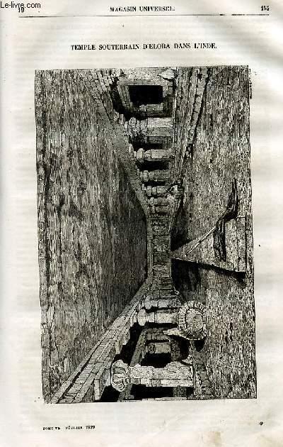 Le magasin universel - tome sixième - Livraison n°19 - Temple souterrain d'Elora dans l'Inde.