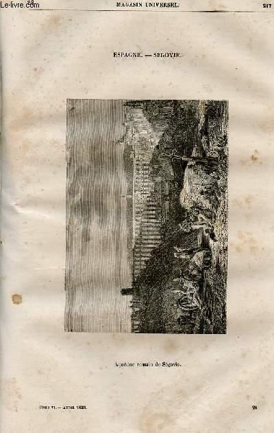 Le magasin universel - tome sixième - Livraison n°28 - Espagne - Ségovie.