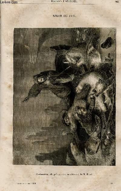 Le magasin universel - tome sixième - Livraison n°34 - Salon de 1839, tableaux de genre, suite.