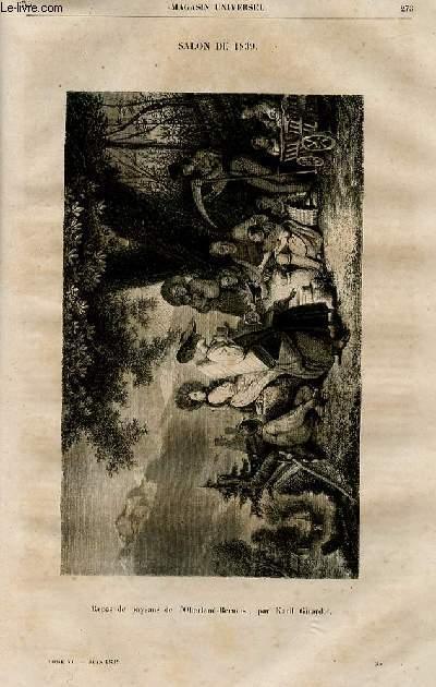 Le magasin universel - tome sixième - Livraison n°35 - Salon de 1839,suite et fin.