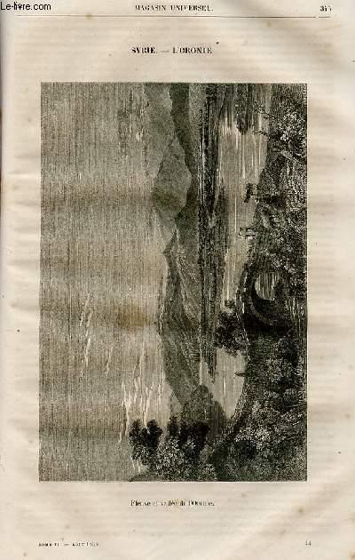 Le magasin universel - tome sixième - Livraison n°44 - Syrie - jonction d'un ruisseau tributaire de l'Oronte.