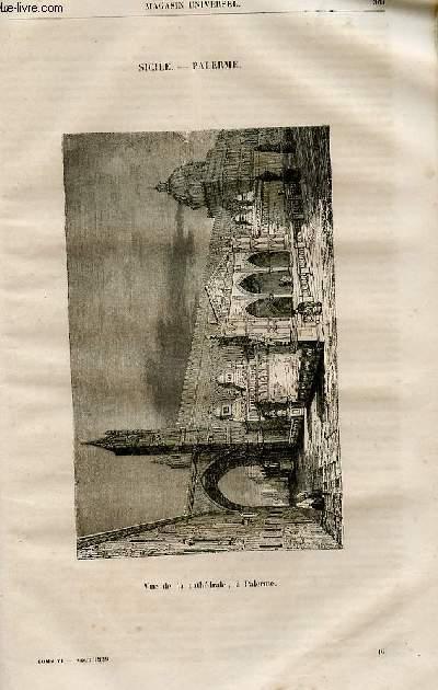 Le magasin universel - tome sixième - Livraison n°46 - Sicile - Palerme.