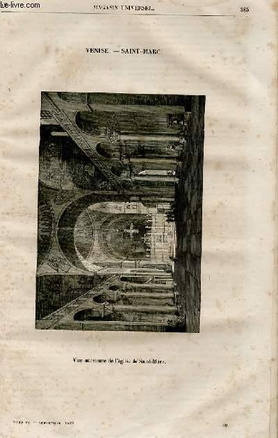 Le magasin universel - tome sixième - Livraison n°49 - Venise - Saint MArc (la basilique de St MArc, le grand canal).