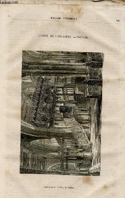 Le magasin universel - tome sixième - Livraison n°51 - Comté de Lancastre - Sefton.